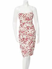 DOLCE & GABBANA FLORAL PRINT PLEATED DRESS Size 40