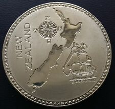 New Zealand 1910 Pewter Retro Pattern Proof Crown