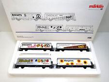 4tlg Güterwagen Set MIGROS,Hbils-vy SBB,Märklin HO,SoMo,4785,OVP,TOP,UW
