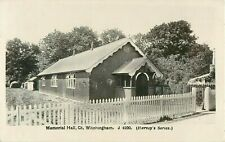 RP GREAT WITCHINGHAM MEMORIAL HALL REAL PHOTO REEPHAM BAWDESWELL NORFOLK  1922
