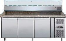 Banco Pizza Refrigerato inox 3 porte 600x400 Profondità 80cm PZ3600TN38