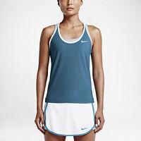 New NIKE Women's Slam Breathe Tennis Tank Stratus Blue Active Top 683145-482 XL