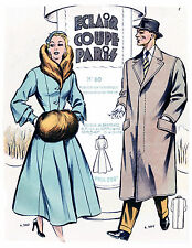 1953-54 Winter Eclair Coupe Paris Pattern Book Reprint
