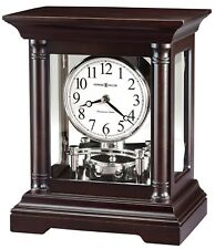 "635-198  NEW HOWARD MILLER   MANTEL CLOCK ""CASSIDY""  IN BLACK COFFEE FINISH"