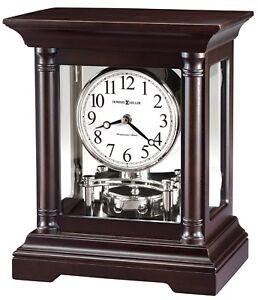 "635-198  NEW HOWARD MILLER   MANTEL CLOCK ""CASSIDY""  IN BLACK COFFEE FINISH"