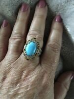 Gems En Vogue Sleeping Beauty Turquoise Ring