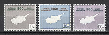 CYPRUS 1960 CONSTITUTION OF REPUBLIC MNH (Vl. 16-18)