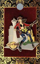 Hard Rock Cafe SEATTLE 2010 City ROCKER GIRL w/Guitar PIN Space Needle HR #53081
