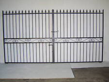 Double driveway wrought iron gate 4 ft tall 12 ft wide opening