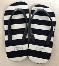 Janie & Jack Toddler C8 2 / 3 Years Nautical Flip Flop Slippers Shoes Boys Girls