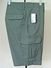 Men's Apt. 9 Cargo Shorts 30w Solid Green Stretch Fabric Comfort Waistband