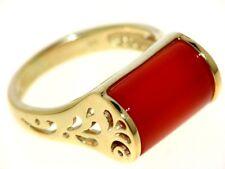 SCHMUCKJAGD RING GR. 17 (53) 375/- GOLD MIT KARNEOL SOGNI D'ORO