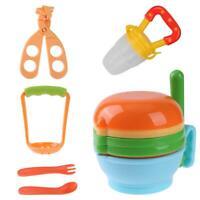 12pcs/Set Baby Food Grinding Bowl Supplement Scissors Spoon Fruit Processor
