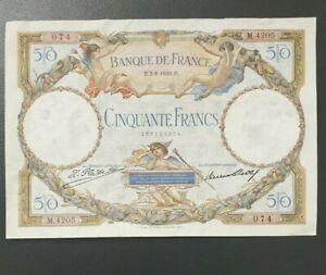 50 FRANCS LUC OLIVIER MERSON BILLET 1929