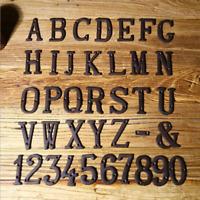 Address Sign Number/Letter Plate Door Home House Garage Plaque Cast Iron Rustic