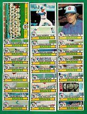 1979 Topps Baseball Atlanta Braves Complete Team Set - Murphy, Niekro