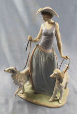 Dame mit Windhunden barsoi afghane porzellanfigur Lladro,figur hund dog