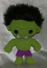 "Rare 2011 FUNKO PLUSHIES Marvel SUPERHERO 9"" Plush Soft Green Felt AVENGERS HULK"