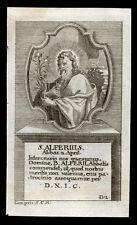 santino incisione 1700 S.ALFERIO AB. DI CAVA DE TIRRENI