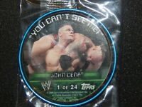 2006 Topps Metal Insider WWE Wrestling Coin Card - JOHN CENA - Rookie - #1 of 24