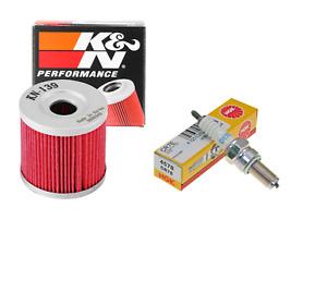 TUNE UP KIT K&N OIL FILTER NGK CR7E SPARK PLUG FOR 2004-2008 ARCTIC CAT DVX 400