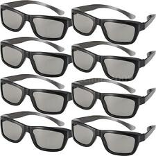 8 Pairs high Quality 3D Passive 3D Glasses. Black for LG/Sony 3D TV Real D M6Y0