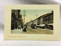 Vintage Postcard Princess Street Kingston, Ont. byThe Valentine & Sons' Trolley