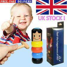 Kids Unbreakable Wooden Magic Toy The Wooden Stubborn Man Funny XMAS Gifts UK