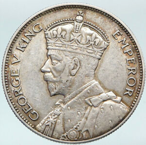 1934 SOUTHERN RHODESIA UK King George V Shield Silver OLD Half Crown COIN i88212