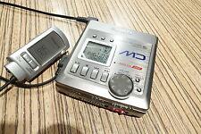 Aiwa f72 MiniDisc grabador/Player + Remote + fuente de alimentación Sony