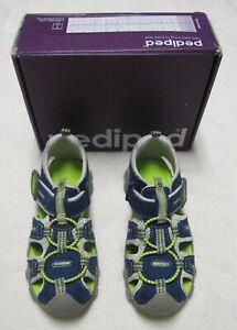 PEDIPED NIB Boys Size 12 US 29 EU Blue Green Sport Athletic Canyon Sandals NEW