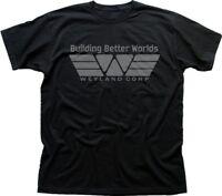 Alien Aliens inspired Prometheus Weyland black cotton t-shirt 01487