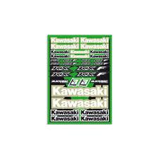 Motocross MX Aufkleber Dekor Kawasaki Factory Racing Sticker Set Kit Grün KXF KX