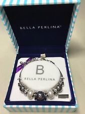 """Live, Love, Laugh, Dream"" Bracelet Bella Perlina Signature Charm & Crystal Bead"