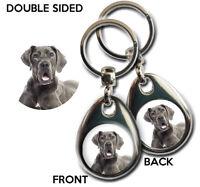 GREAT DANE Blue DOG gift keyring Quality Metal Exclusive KAZMUGZ design