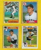 1987 Roger Clemens 4 topps CARD #1 #340 #614 Lot Vintage Baseball Boston Red Sox