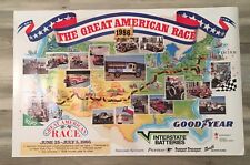 """VINTAGE 1986 """"THE GREAT AMERICAN RACE"""" POSTER, JUNE 25-JULY 5, 36""""W x 23.5""""L"""