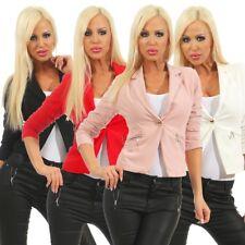 10866 waisted ladies blazer jacket elegant short jacket stretch cardigan reverse