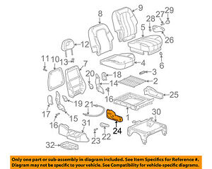 Buick GM OEM 04-07 Rendezvous Rear Seat-Side Cover Right 89022348