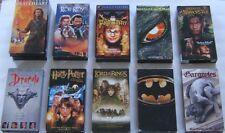 Vhs Tapes Movies Lot of 10 Fantasy Adventure Rob Roy Batman Dracula Godzilla