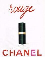 PUBLICITE ADVERTISING 074  1995  CHANEL cosmétiques ROUGE   rouge à lèvres