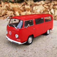 WELLY VW Diecast Model Car Toys 1:24 Volkswagen 1972 T2 Bus Collectible Vehicles