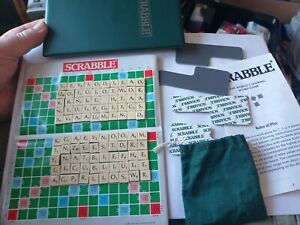 Pocket Scrabble Travel Vintage 1992 Magnetic Tiles Spears Games ~ GOOD CONDITION