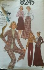 **Vintage Sewing Pattern**Ladies Jacket, Blouse, Skirt & Trousers**Size 12**