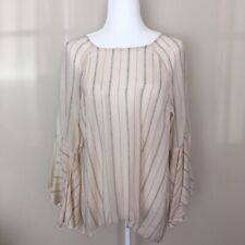 Lauren Conrad Women's Stripe Long Sleeve Bell Sleeves Tunic Blouse L