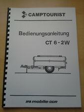 DDR HANDBUCH CAMPTOURIST CT 6-2W WARTBURG,TRABANT,IFA,FORTSCHRITT