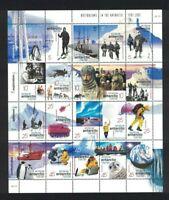 AAT81) Australian Antarctic Territory 2001 Australians in The Antarctic Sheetlet