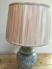 ROUND CLASSIC COUNTRY HOUSE STYLE PLEATED BEIGE LINED LAMP SHADE