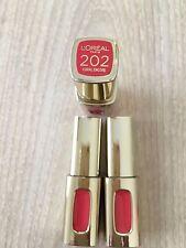 3X #202 CORAL ENCORE  L0REAL PARIS COLOR LIPSTICK-ORDINARY-EXTRAORDINARY LIPS