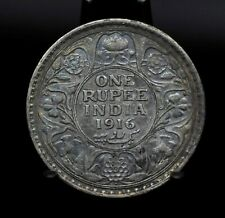 1916 India One Rupee King George V Silver Coin [050DUD]